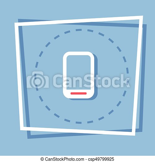 Cell Smart Phone Icon Tablet Computer Web Button - csp49799925