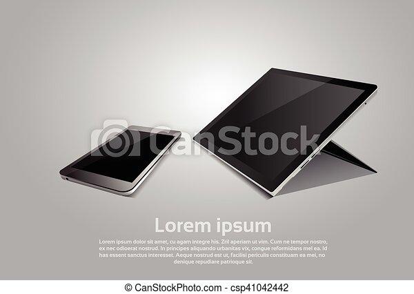 Cell Smart Phone Tablet Computer Responsive Design Blank Screen Digital Device - csp41042442