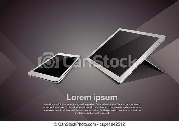 Cell Smart Phone Tablet Computer Responsive Design Blank Screen Digital Device - csp41042512