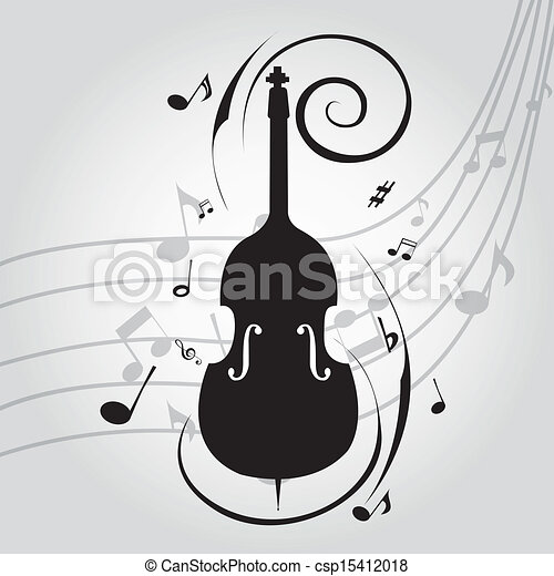 Cello Abstract Silhouette On Special Music Background