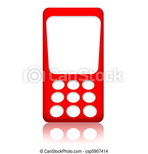 cellphone red mobile phone with blank screen isolated over rh canstockphoto com Cell Phone Clip Art Cell Phone Screen Goes Blank