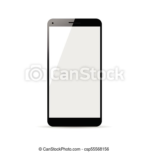 cellphone in black color illustration - csp55568156