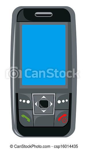 cellphone, nero - csp16014435
