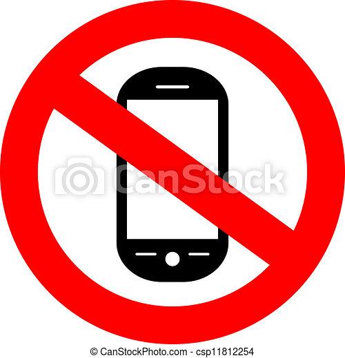 cellphone, no, segno - csp11812254