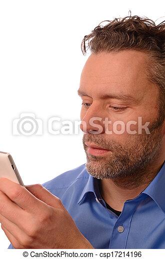 cellphone, zakenmens  - csp17214196