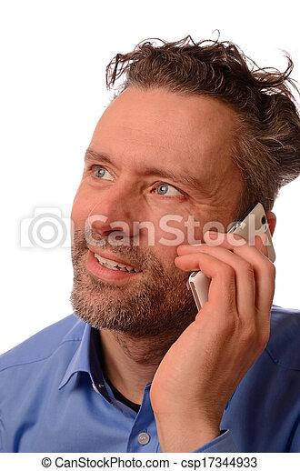 cellphone, zakenmens  - csp17344933