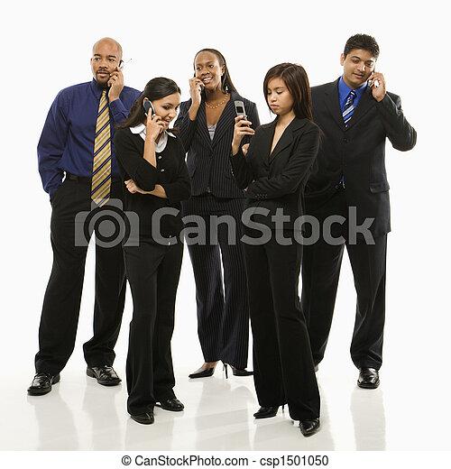 cellphones., gruppo, affari - csp1501050