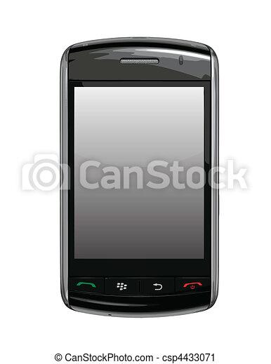 cellule, /, mûres, téléphone, vecteur, pda - csp4433071
