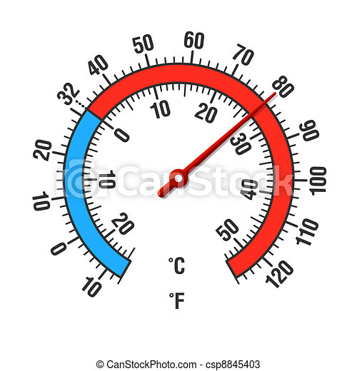 Celsius and Fahrenheit thermometer - csp8845403