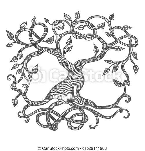 Celta árbol Vida Vida Celta Yggdrasil árbol Ilustración
