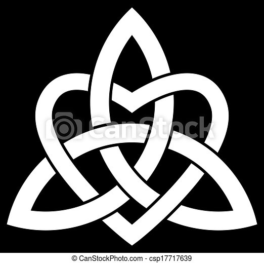 celta, triquetra, trindade, nó - csp17717639