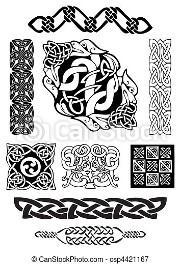 Celtic art-collection. - csp4421167