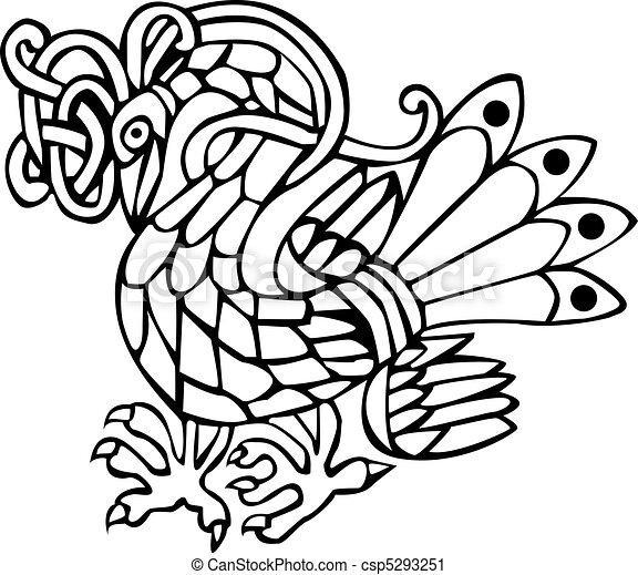 Celtic bird - csp5293251
