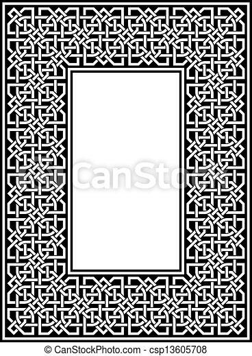 celtic border - csp13605708