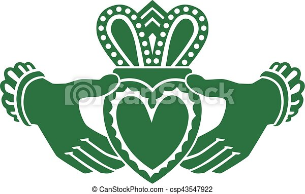 celtic claddagh vector illustration search clipart drawings and rh canstockphoto com irish claddagh clip art claddagh clip art free