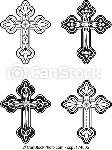 celtic cross a group of ornate celtic cross designs rh canstockphoto com celtic cross logo clip art celtic cross clip art silhouette