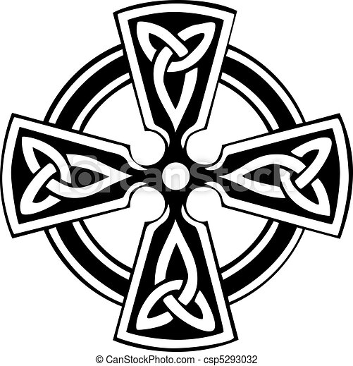 an illustration of a celtic cross with a beautiful design vector rh canstockphoto com celtic cross vector image celtic cross vector free download
