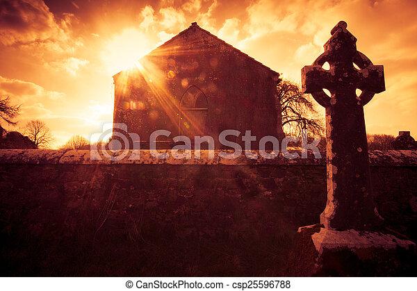 Celtic Cross Ireland - csp25596788