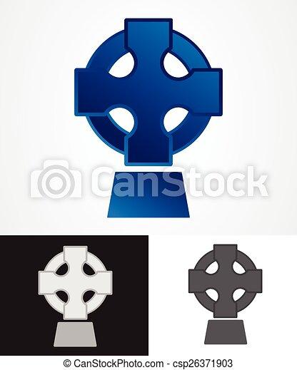 Ancient Celtic Cross Symbol Vector Illustration Vector Clipart