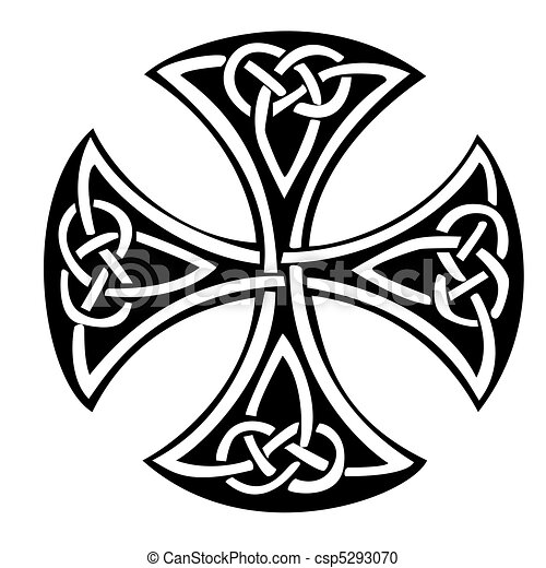 celtic cross an illustration of a celtic cross with a beautiful rh canstockphoto com celtic cross vector png celtic cross vector free download