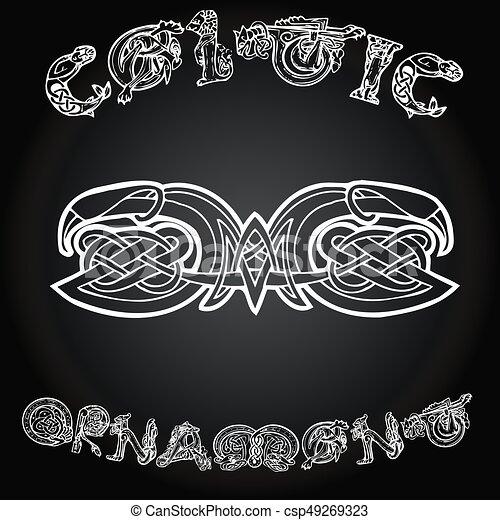Celtic decorative  ornament - csp49269323