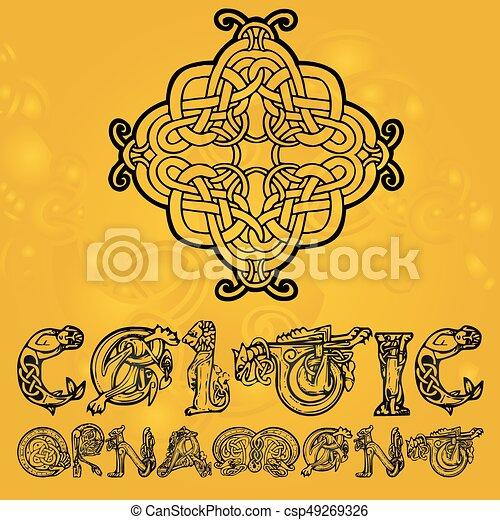 Celtic decorative  ornament - csp49269326