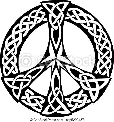 Celtic Design - Peace symbol - csp5293487