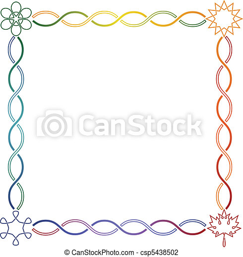 Celtic frame - square - csp5438502