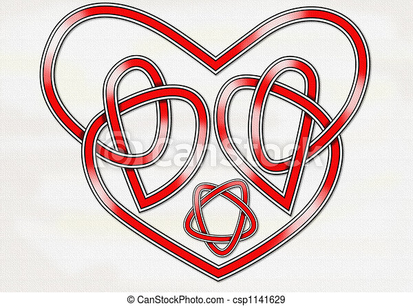Celtic Heart Knot An Original Celtic Knot In The Form Of A Heart