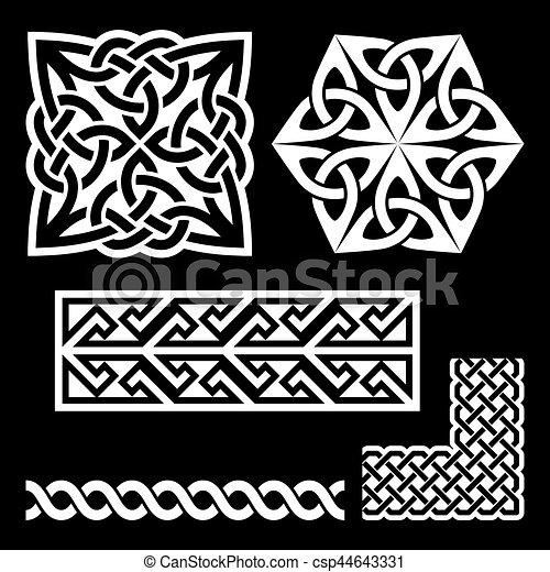 Celtic Irish And Scottish White Patterns Knots Braids Key Simple Irish Patterns