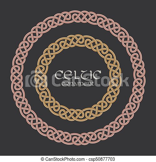 Celtic knot braided frame border circle ornament - csp50877703