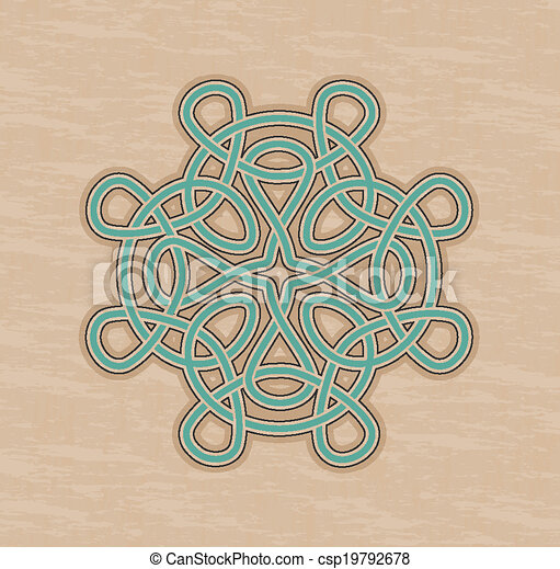 Celtic knot ornament - csp19792678