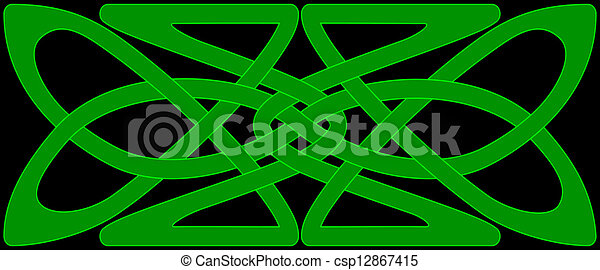 Celtic knot panel - csp12867415