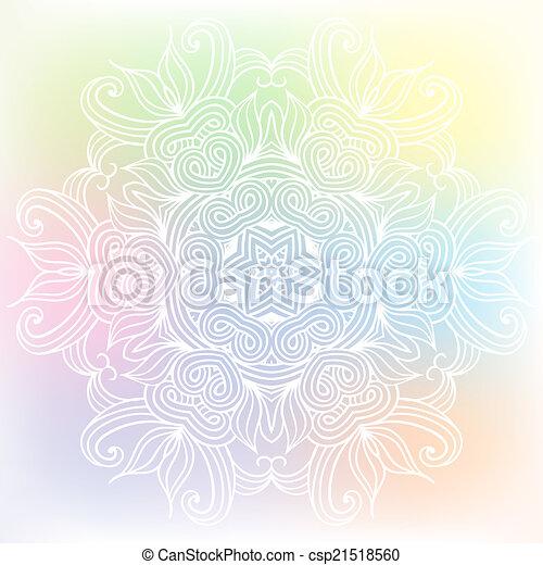 celtic knot pattern card, mandala, amulet - csp21518560