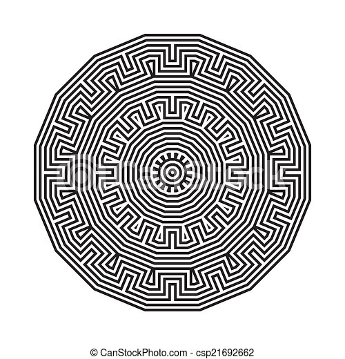 celtic knot pattern card, mandala, amulet - csp21692662