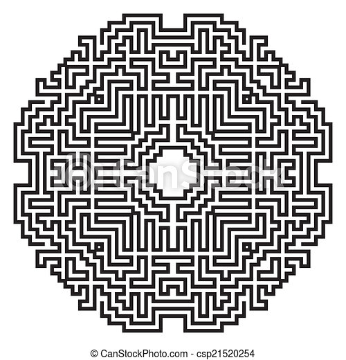 celtic knot pattern card, mandala, amulet - csp21520254