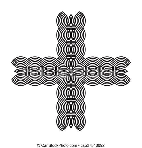 celtic knot pattern card, mandala, amulet - csp27548092