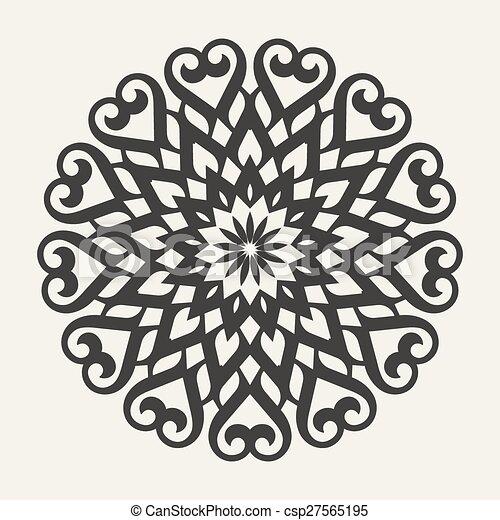 celtic knot pattern card, mandala, amulet - csp27565195
