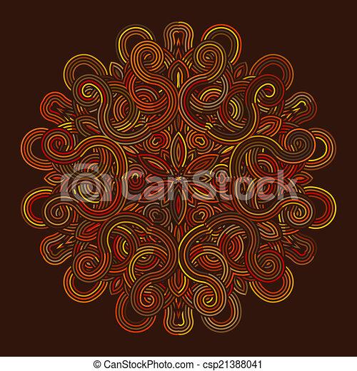 celtic knot pattern card, mandala, amulet - csp21388041
