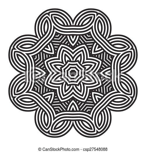 celtic knot pattern card, mandala, amulet - csp27548088