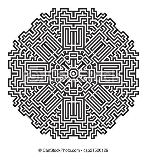 celtic knot pattern card, mandala, amulet - csp21520129