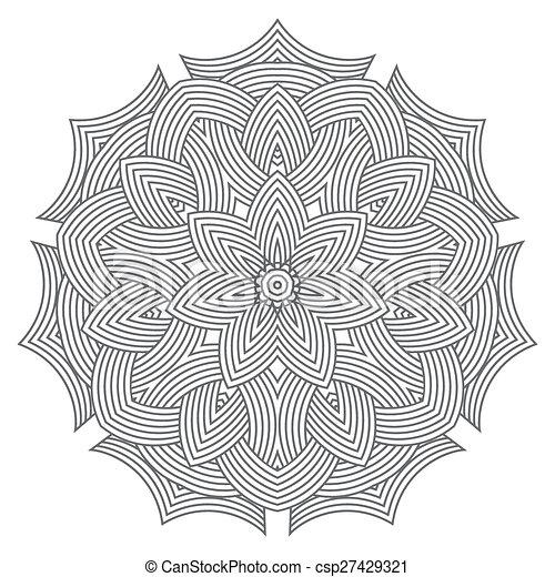 celtic knot pattern card, mandala, amulet - csp27429321
