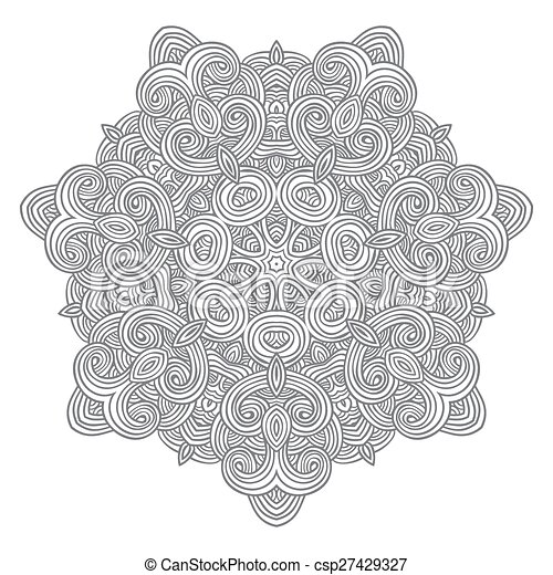 celtic knot pattern card, mandala, amulet - csp27429327