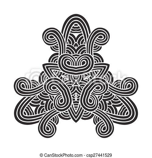 celtic knot pattern card, mandala, amulet - csp27441529