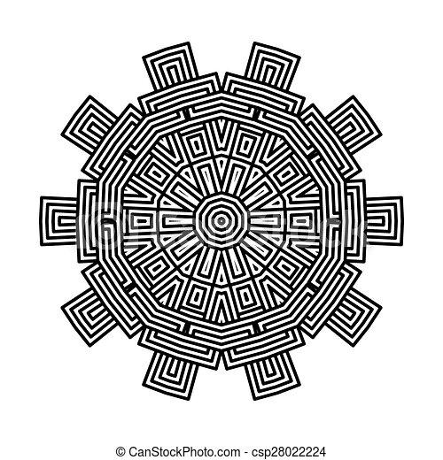 celtic knot pattern card, mandala, amulet - csp28022224