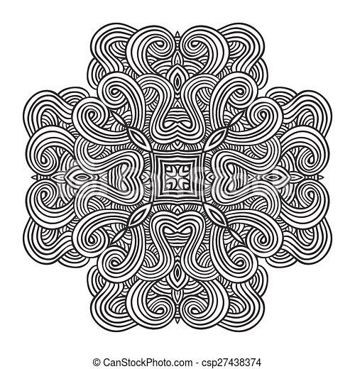 celtic knot pattern card, mandala, amulet - csp27438374