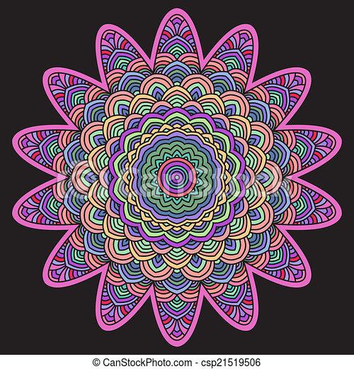 celtic knot pattern card, mandala, amulet - csp21519506