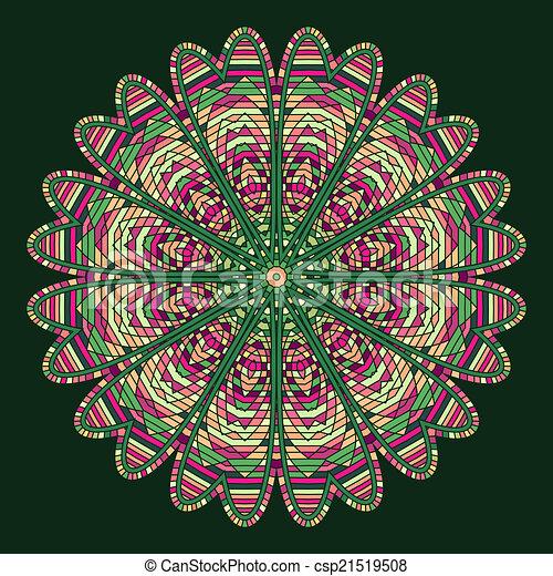 celtic knot pattern card, mandala, amulet - csp21519508