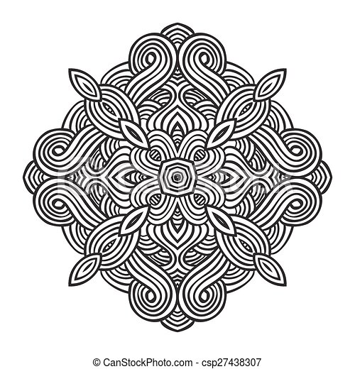 celtic knot pattern card, mandala, amulet - csp27438307