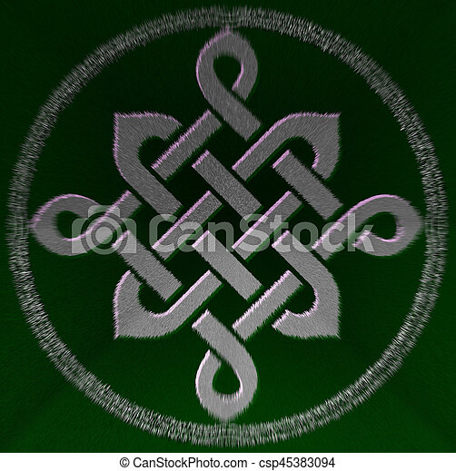 Celtic Knot Symbol Celtic Green Knot Mystic Religious Stock